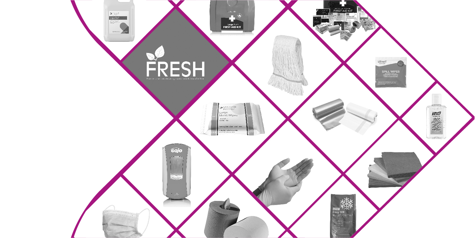 Collage of consumable products, Countrywide healthcare